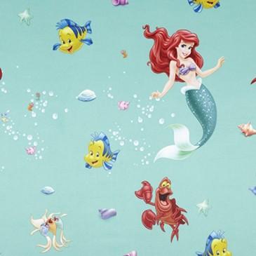 Disney The Little Mermaid Fabric SUNSIREN.45.150
