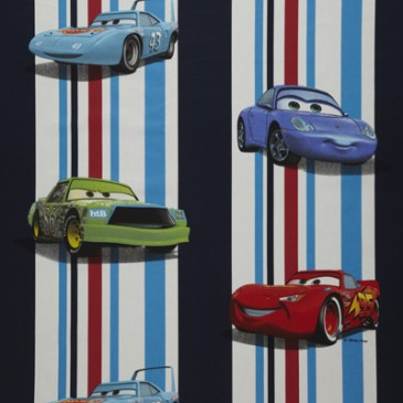 Cars Disney Fabric STRIPECAR.42.140