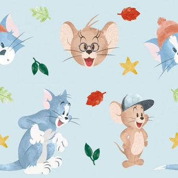 Tom & Jerry Warner Bros Fabric FOGLI.380.140