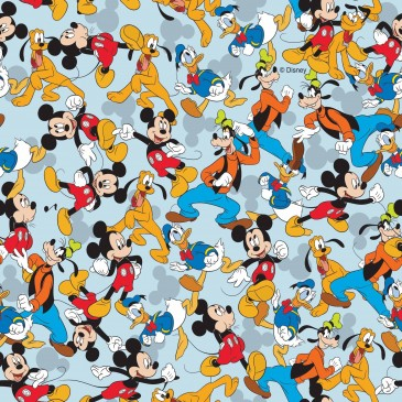 Disney Donald Duck Mickey Mouse Fabric MIXED.380.140