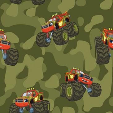 Blaze Monsters Nickelodeon Fabric MUDDY.439.140