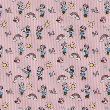 Disney Minnie Mouse Fabric RAINBOW.33.140